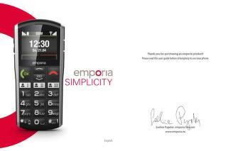 emporia - cell-phone - Simplicity - User Manual V27 - User Manual ...